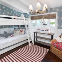 Люстра в детской комнате морской стилистики
