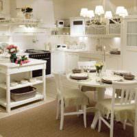 Люстры на кухне в стиле прованс