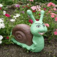 Фигурка улитки для украшения сада