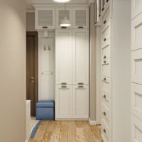 Закрытые шкафы в прихожей городской квартиры