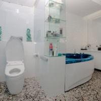 Совмещенная ванная в морском стиле