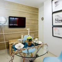 Гостиная частного дома в морской тематике