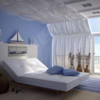 Современная спальня в морском стиле