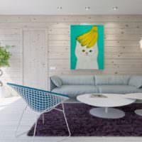 Скандинавский стиль в интерьере банной комнаты отдыха