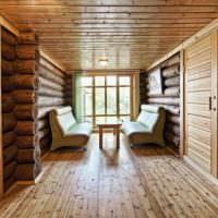 Мягкая мебель в предбаннике частной бани