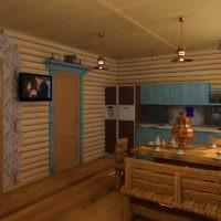 Полноценная кухня в русской бане