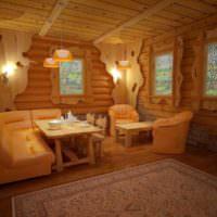 Проект оформления интерьера русской бани