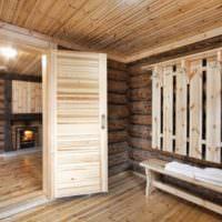 Деревянная вешалка для бани своими руками