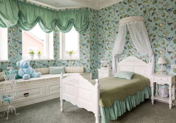 Дизайн детской комнаты для девочки подростка во французском стиле