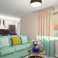 Мягкая мебель с обивкой мятного цвета