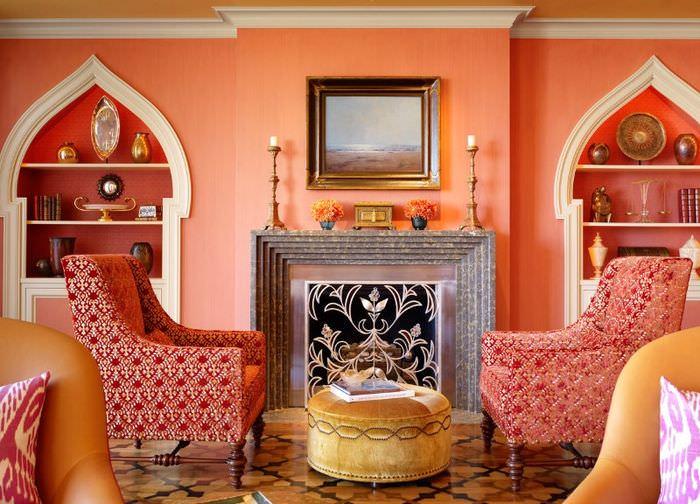 Ниши в стене как важная часть интерьера в марокканском стиле
