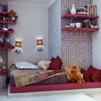 Кровать без каркаса в интерьере детской