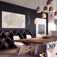 Обеденная зона на кухне в стиле контемпорари