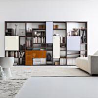 Модульная мебель в гостиной стиля контемпорари