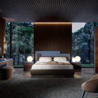 Освещение в спальне стиля контемпорари