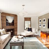 Смешение стилевых направлений в интерьере гостиной