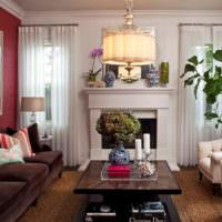 Декорирование гостиной живыми цветами
