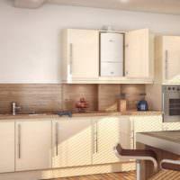 Дизайн кухни с линейной планировкой