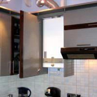 Шкаф без нижней панели для газового котла