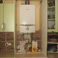 Модуль кухонного гарнитура с газовой колонкой