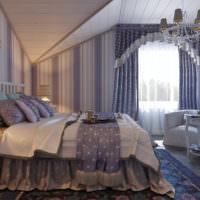 Интерьер спальни в фиолетовых оттенках