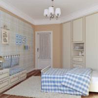 Интерьер детской комнаты в кремовых тонах