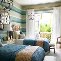 Морской стиль в оформлении детской спальни