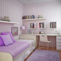 Фиолетовая комната в современном стиле для девочки