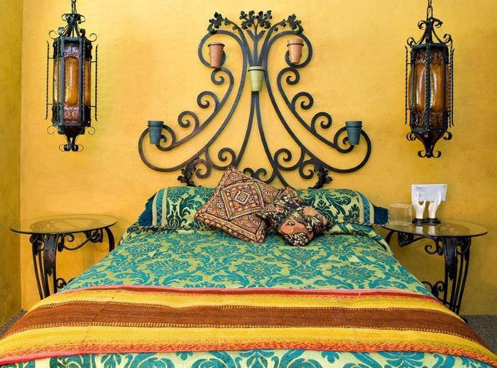 Декорирование кровати в марокканском стиле