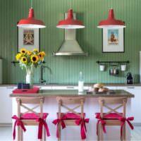 Дизайн кухни загородного дома в стиле прованс