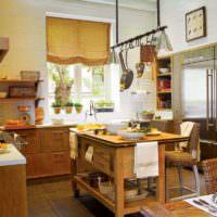 Деревенский стиль в оформлении кухни сельского дома
