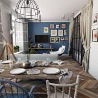 Кухня загородного дома в деревенском стиле