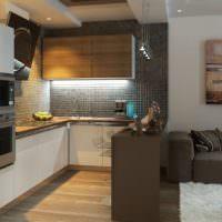 Темно-коричневый цвет в интерьере кухни