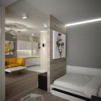 Зонирование квартиры легкими перегородками