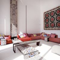 Элементы декорирования комнаты в марокканском стиле