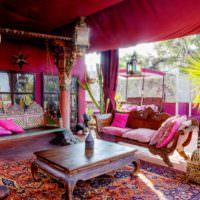 Марокканский стиль в оформлении двора частного дома