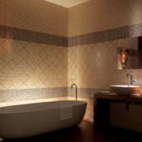 Декоративное освещение в ванной комнате