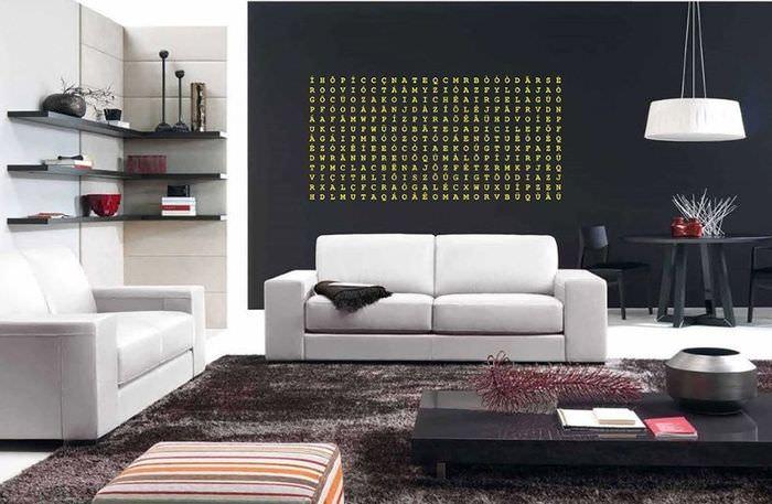 Удобна и функциональная мебель в гостиной стиля контемпорари