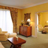 Интерьер комнат в желтых тонах
