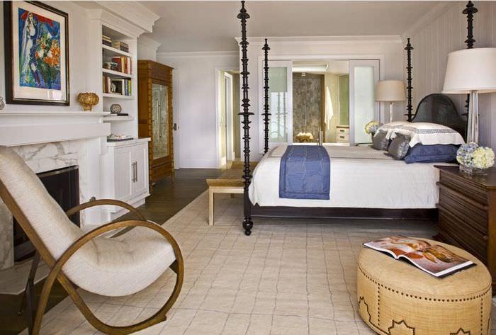 Оформление спальни частного дома в стиле неоклассики