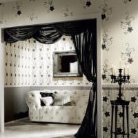 Интерьер гостиной в черно-белом цвете