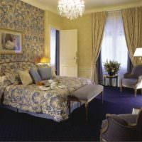 Сиреневый цвет в дизайне спальни