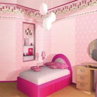 Спальня для девочки в розовых оттенках