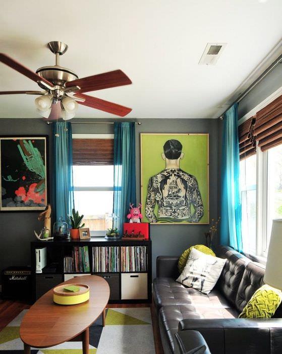 Люстра с вентилятором на потолке из гипсокартона