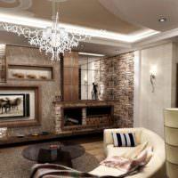 Освещение в гостиной частного дома