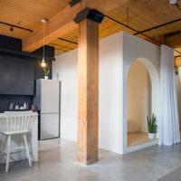 Богемный интерьер дома в стиле лофт