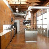 Вентиляционные трубы в интерьере кухни