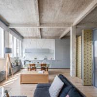 Дизайн в стиле лофт в жилом помещении