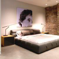 Спальня супругов в индустриальных мотивах