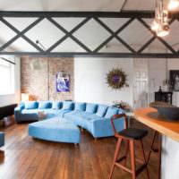 Металлические конструкции в интерьере жилого помещения